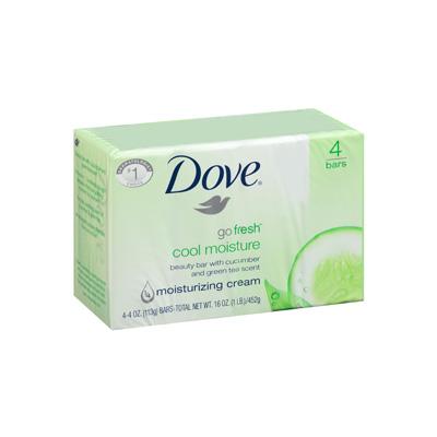 Dove Bar Soap (Four Bars) | Cosmos Distributing